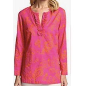 J McLaughlin Key West Pink & Orange Paisley Tunic